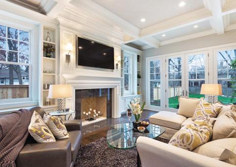 欧式客厅 欧式壁炉 欧式沙发