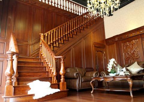 欧式石材护墙板楼梯